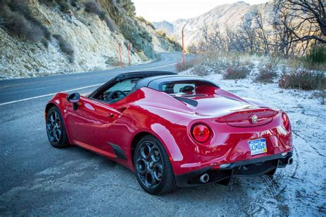Alpha Romeo's 4c Spider Is A Brutal Sports Car Only A