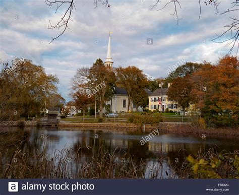 View Of The Small Town Of Sandwich Cape Cod Massachusetts