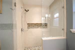 bath shower ideas small bathrooms quot new wave quot porcelain tile tile los angeles by bauformat