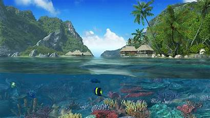 Screensaver Islands Caribbean 3d