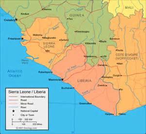 Sierra Leone Map and Satellite Image Sierra Leone