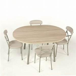Table Ronde Cuisine : table de cuisine extensible en stratifi elli 4 ~ Teatrodelosmanantiales.com Idées de Décoration