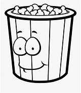 Popcorn Coloring Clipart Clipartkey sketch template