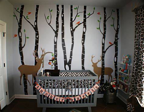 Birch Tree Winter Forest Set Vinyl Wall Decal #1161 Baby