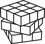 Rubiks Rubik Rubix Rubika Kostka Bestcoloringpagesforkids Pngkey Vippng Clipground sketch template