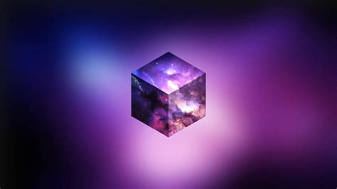 Abstract Wallpaper Cube by Cloudy Purple Sky In A Cube Hd Wallpaper Hintergrund
