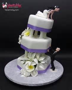 wedding cake toppers initials quot falling in quot wedding cake yeners way