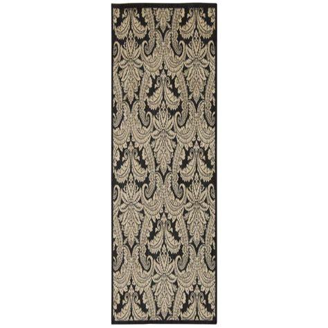 overstock runner rugs nourison overstock aristo black beige 2 ft 2 in x 7 ft