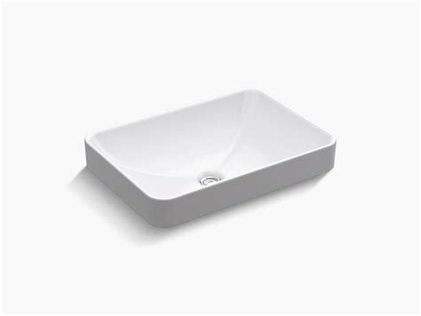 vox rectangle vessel bathroom sink kohler
