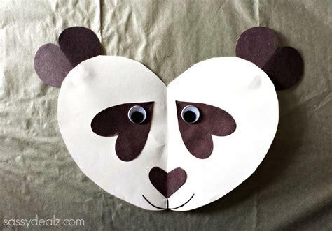 panda bear heart craft  kids crafty morning