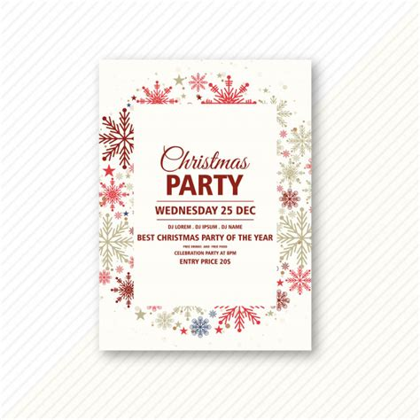 Free Vector Christmas party celebration invitation card