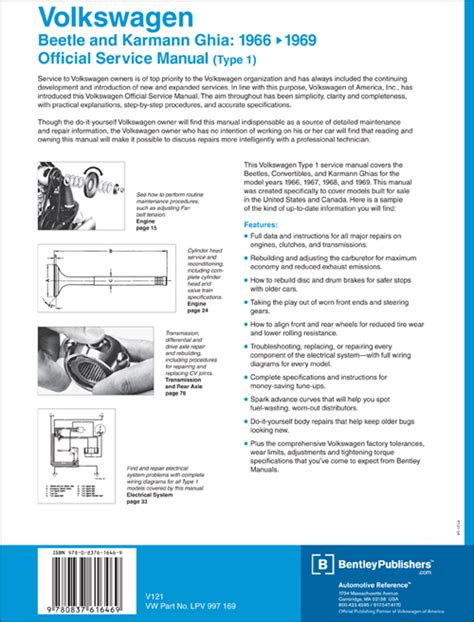 download car manuals pdf free 1967 volkswagen beetle transmission control back cover vw volkswagen repair manual beetle and karmann ghia type 1 1966 1969 bentley