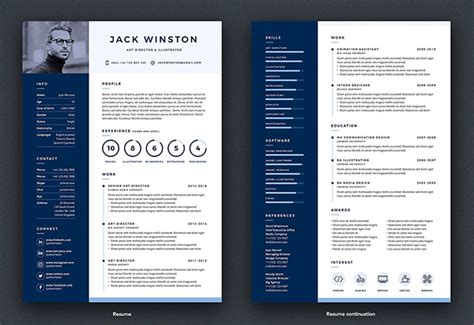 Pro Resume Template by 25 Modern Resume Templates With Cover Letter Idevie