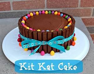 Easy Birthday Cake Ideas – Kit Kat Cake Recipe - Little