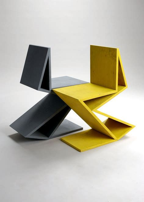 chaise zig zag remix gerrit rietveld chair quot zig zag quot on behance