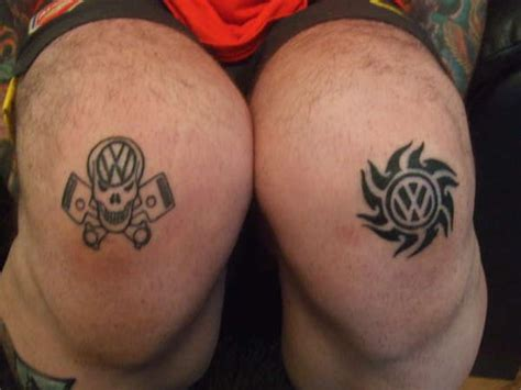 vw knees tattoo