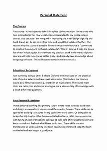 personal statement letter format sample paper