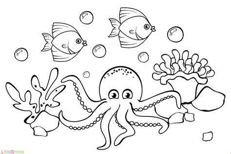 31 gambar pemandangan bawah laut yang belum diwarnai