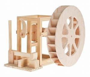 Holz Scheune Bausatz : hammerwerk mit wasserrad holz bausatz nach da vinci werkset ab 12 j ~ Whattoseeinmadrid.com Haus und Dekorationen