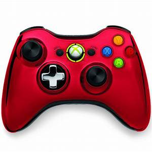 Xbox 360 Chrome Wireless Controller Red Games Accessories