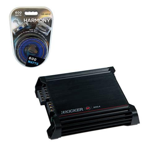 kicker dx  ch car audio dx amplifier subwoofer amplifier amp kit ebay