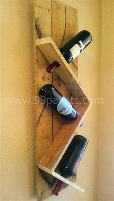 how to make a wine rack out of a pallet wine racks made from recycled pallet wood recyclart