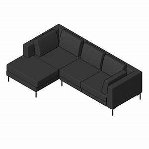 Building rfa albert sectional sofa for Sectional sofa revit family