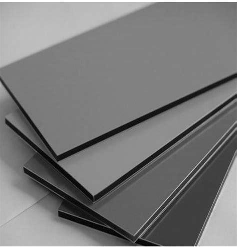 china pe pvdf coating aluminum composite panel zwm  rat silver grey china aluminum