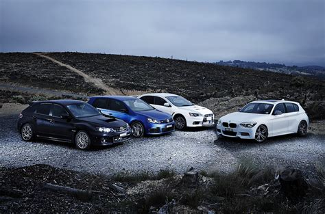 Subaru Vs Bmw by Comparison Bmw M135i Vs Mitsubishi Lancer Evolution Vs