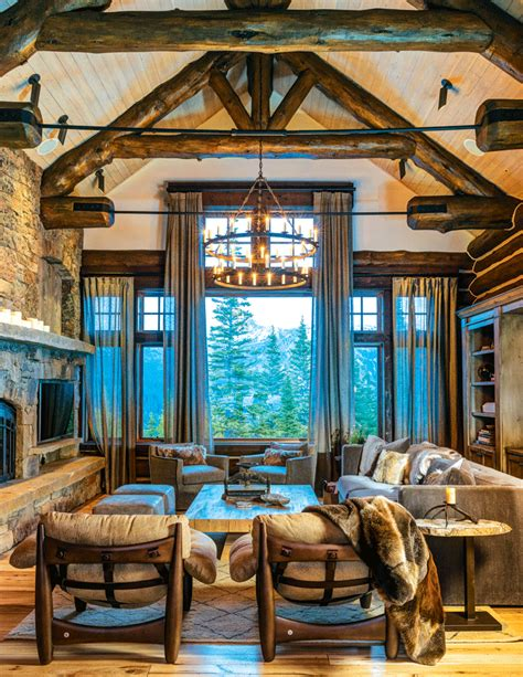 great home interiors mountain home great room decor ideas mine rustic