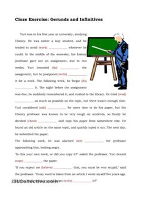 cloze worksheets images worksheets cloze