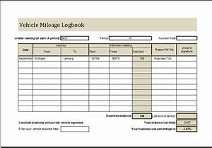 vehicle mileage log book ms excel editable template With travel log book template
