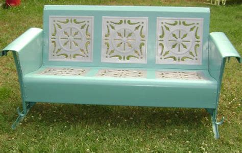 porch glider on vintage patio furniture