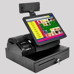 card swiping machine multicolor printed stickers