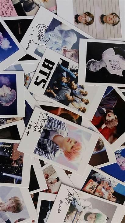 Bts Polaroid Wallpapers Lockscreen Parede Polaroids Tela