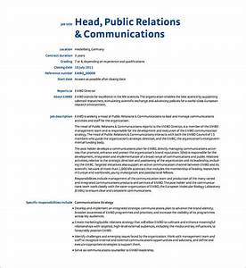 9  Public Relation Job Description Templates