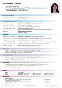 Templates De Resume En Espanol by Curriculum More Exles