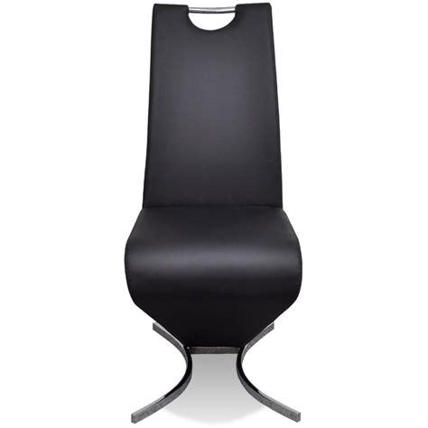 chaise en cuir noir la boutique en ligne chaise en simili cuir cantilever avec