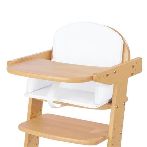 coussin rehausseur chaise coussin pour chaise haute blanc uni pinolino acheter