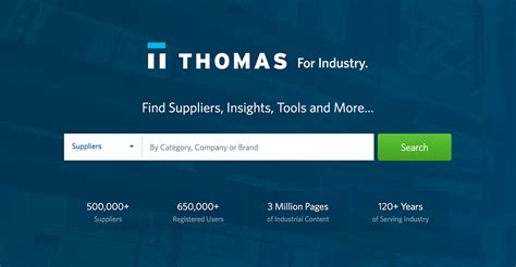 thomasnet product sourcing  supplier discovery platform