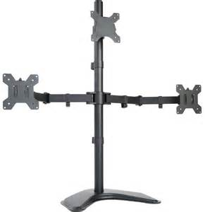 Dual Monitor Adjustable Standing Desk by Triple Lcd Monitor Desk Stand Mount Free Standing