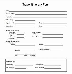 6 sample travel itinerary templates to download sample for Itenary template