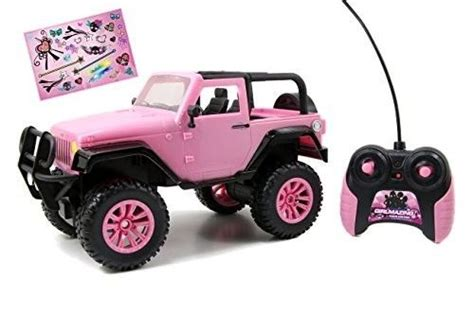 Girls Rc Vehicle Pink Remote Radio Control Jeep Barbie