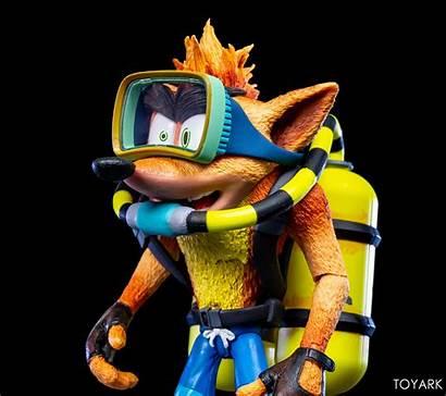 Bandicoot Crash Scuba Neca Gear Figure Toyark