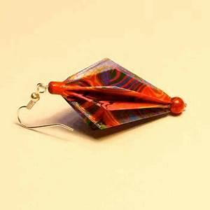 Faire Des Origami : comment faire des boucles d 39 oreilles en origami avec du papier ~ Nature-et-papiers.com Idées de Décoration