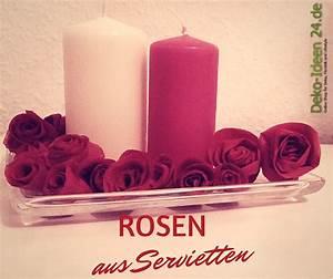 Rosen Selber Basteln : servietten rosen basteln schneiden rollen kleben ~ Lizthompson.info Haus und Dekorationen