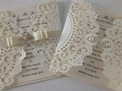 laser cut wedding invitations couture laser cut wedding invitation wedding stationery