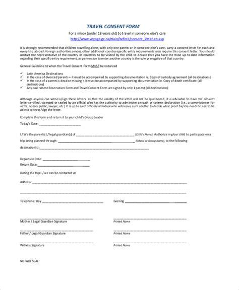 letter  permission  travel  grandchildren template