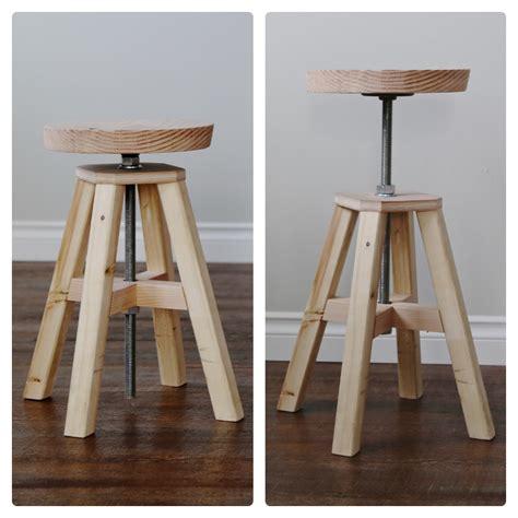 wood adjustable wood stool plans  plans