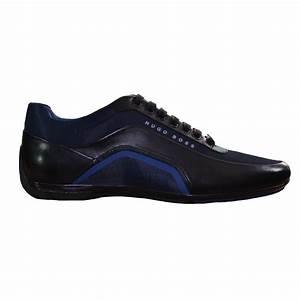 hugo boss mens blue trainers